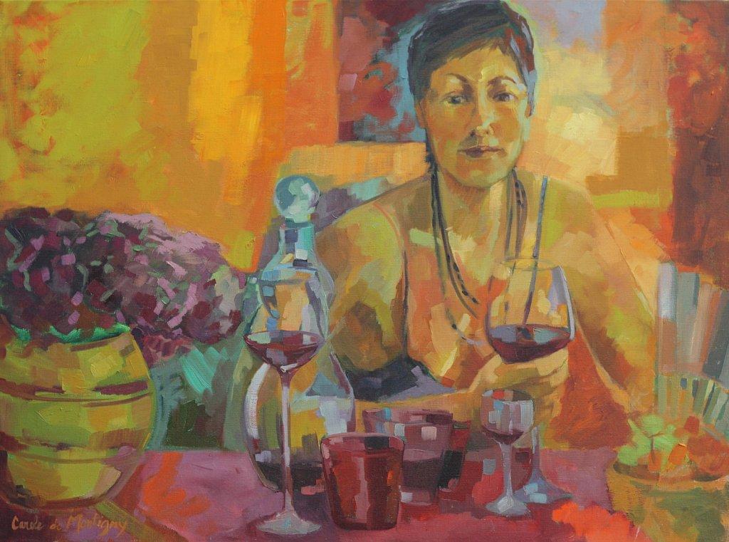 ( vendu ) Un bon verre de vin rouge